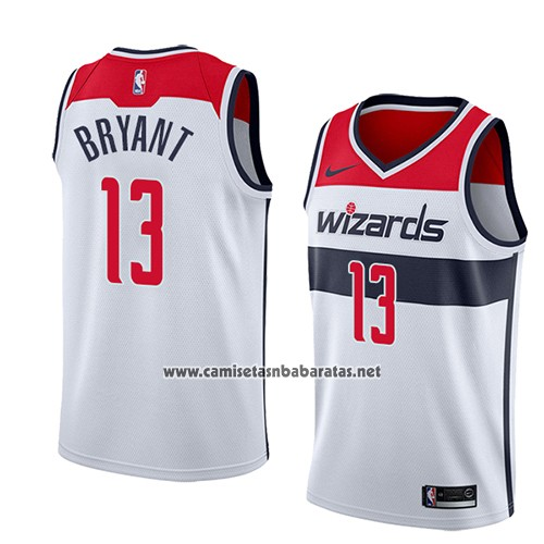 Camiseta Washington Wizards Thomas Bryant #13 Association 2018 Blanco