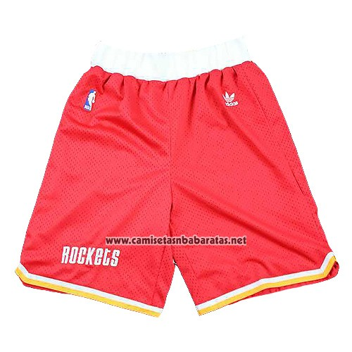 Pantalone Houston Rockets Hardwood Classics Rojo