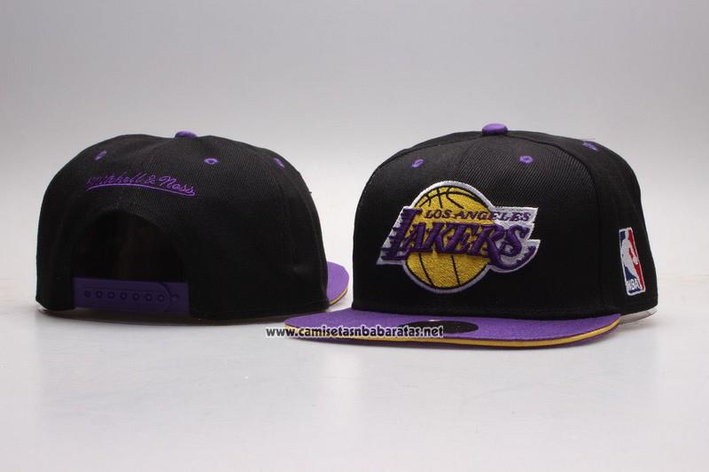 8d84ecd5b204 Gorra Los Angeles Lakers Snapbacks Negro Violeta