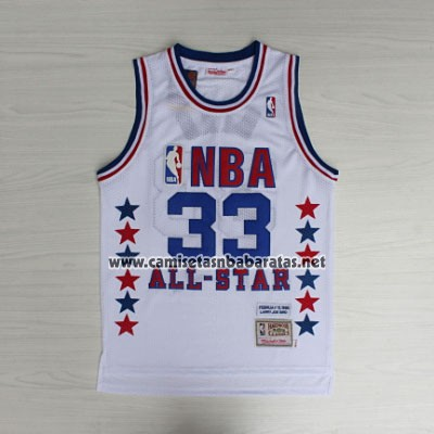 Camiseta All Star 1990 Larry Bird #33 Blanco