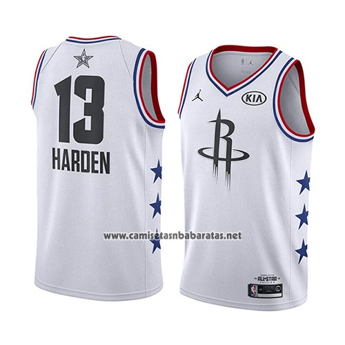 Houston Rockets Squad 2019: Camiseta All Star 2019 Houston Rockets James Harden #13 Blanco