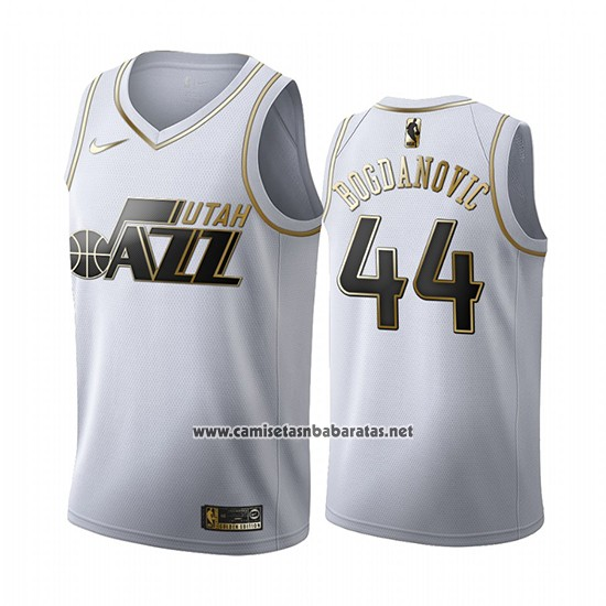 Camiseta Golden Edition Utah Jazz Bojan Bogdanovic #44 2019-20 Blanco