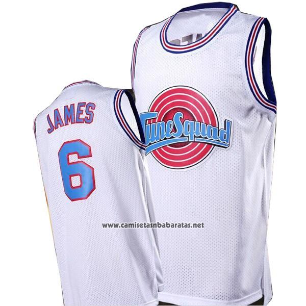 watch 3b200 319b0 Camiseta Tune Squad Lebron James #6 Blanco